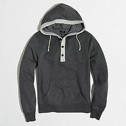 Factory fleece henley hoodie
