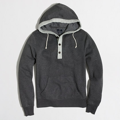 Fleece henley hoodie
