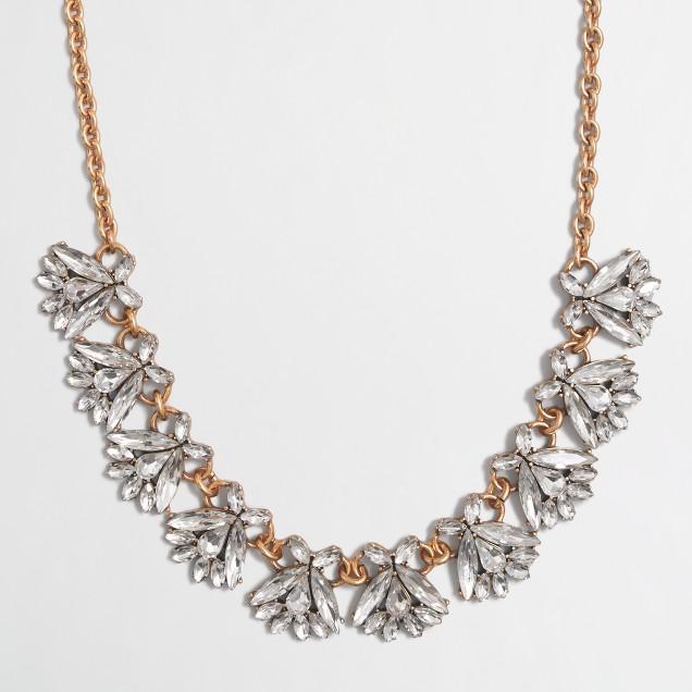 Crystal firefly necklace