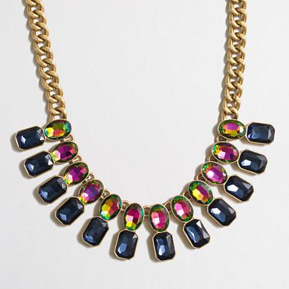 Iridescent statement necklace