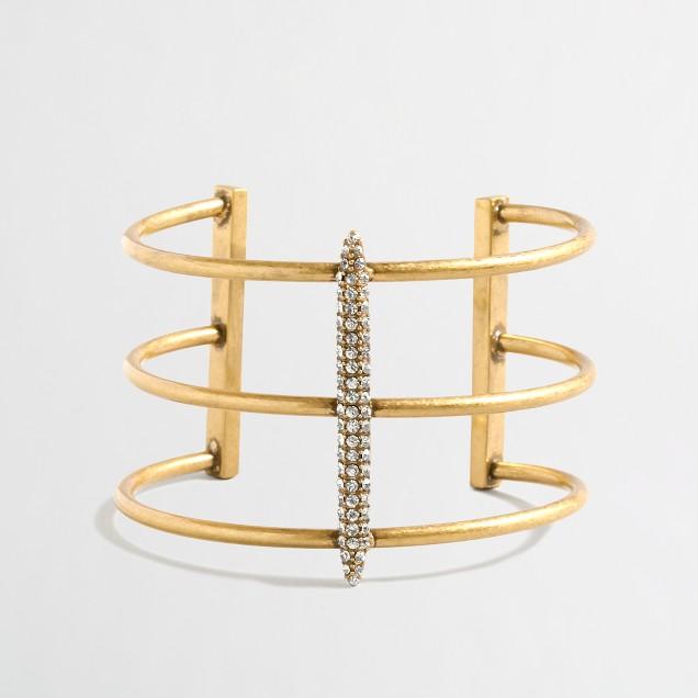 Triple golden cuff bracelet
