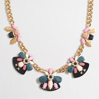 Fan clusters necklace
