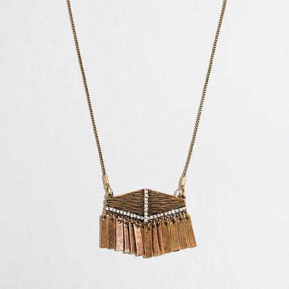 Fringe crystal necklace