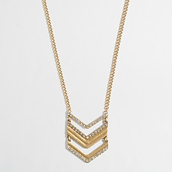 Factory chevron pendant necklace