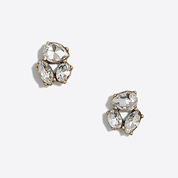 Factory crystal trio earrings
