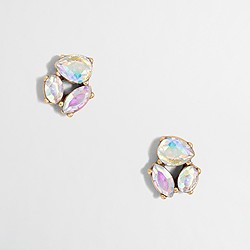Crystal trio earrings