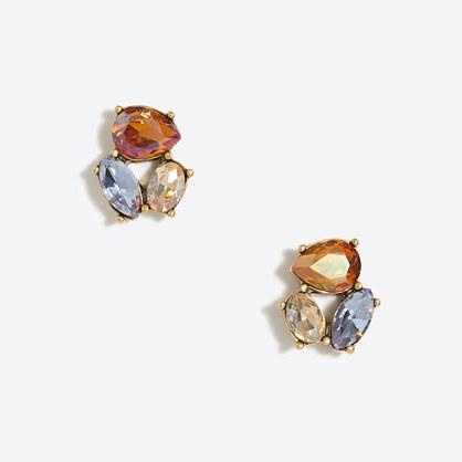 Crystal trio earrings
