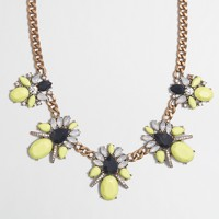 Crystal clusters chain necklace