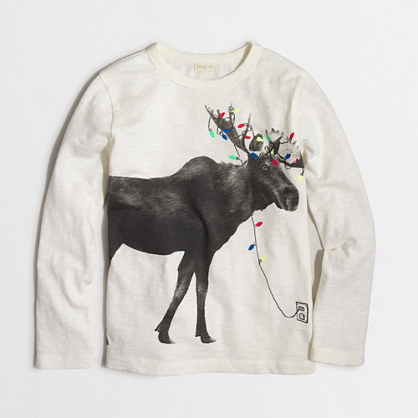 Boys' long-sleeve reindeer storybook T-shirt