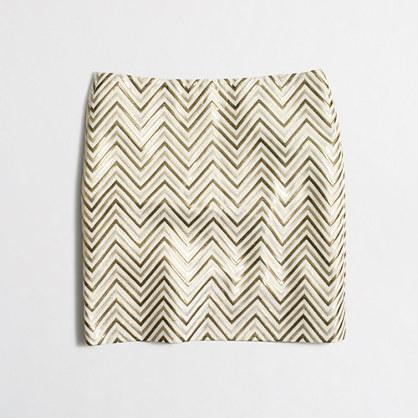 Gold chevron mini skirt