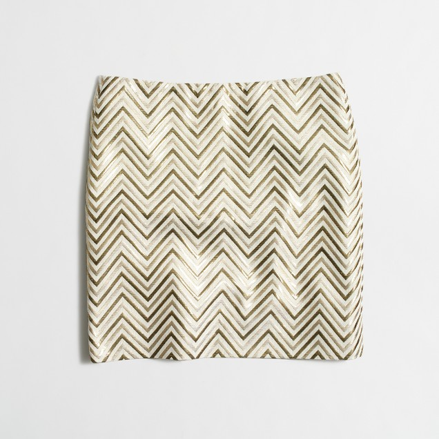 Gold chevron mini skirt
