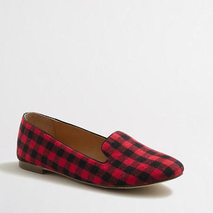 Cora buffalo check loafers