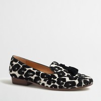 Multi-leopard stacked-heel loafers