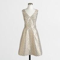 Gold chevron dress