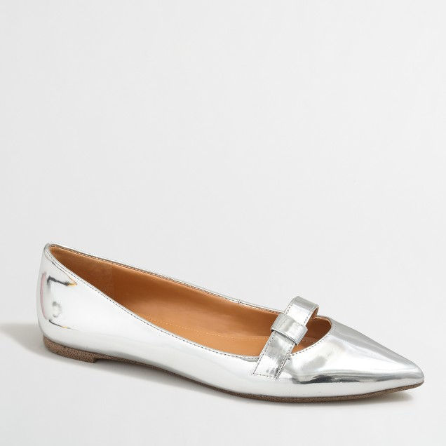 Amelia metallic flats with buckle