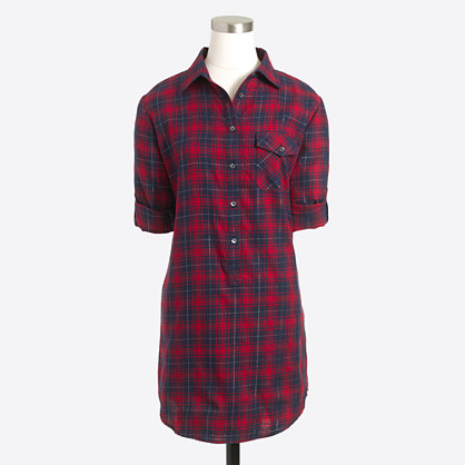 Plaid tunic with pocket