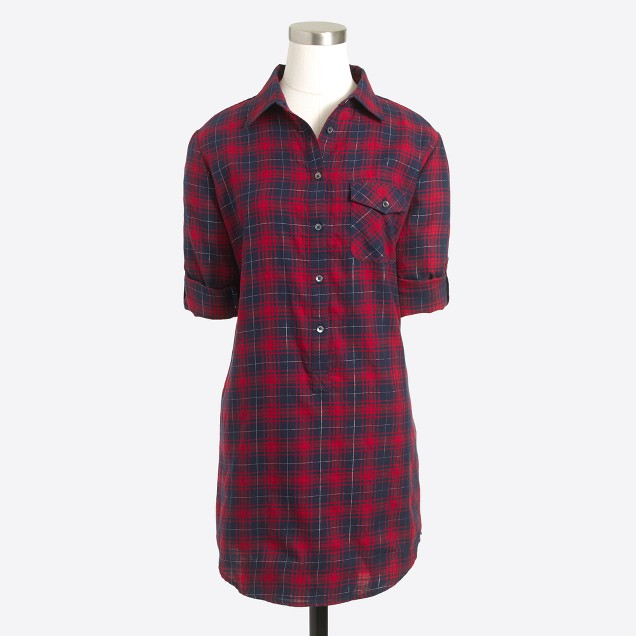Plaid tunic with pocket