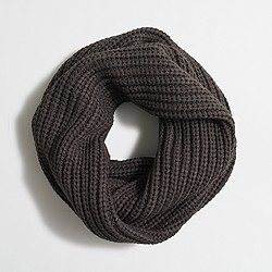 Factory chunky ribbed knit infinity scarf