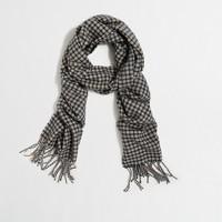 Wool-blend plaid scarf
