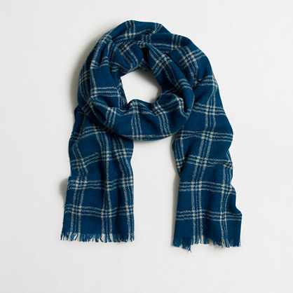 Factory wool plaid scarf