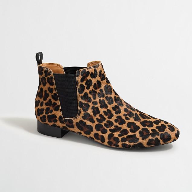Calf hair Chelsea boots