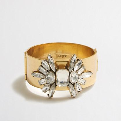 Embellished golden bracelet