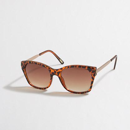 Squared-bottom sunglasses