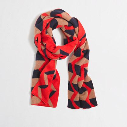 Zigzag striped scarf