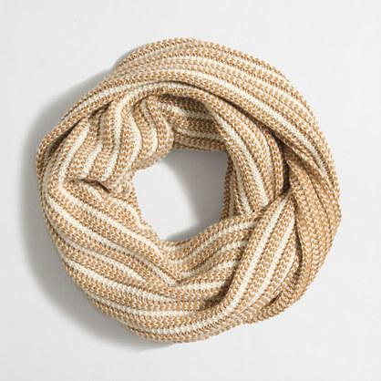 Diamond-stitch infinity scarf