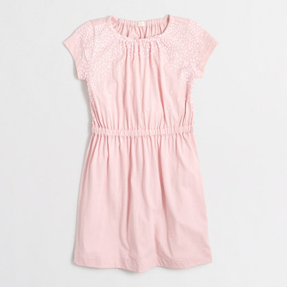 Girls' sequin T-shirt dress