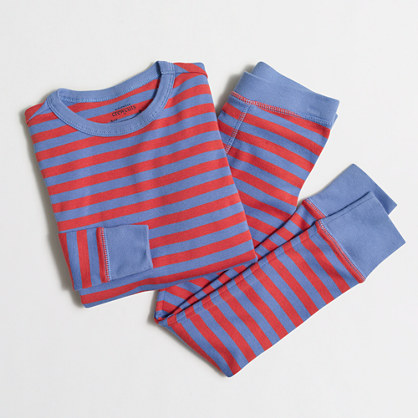 Boys' striped sleep set