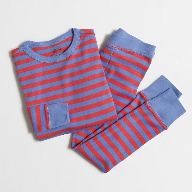 Boys' striped sleep set