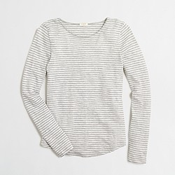 Factory long-sleeve striped T-shirt