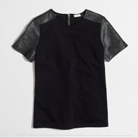 Ponte metallic tweed T-shirt