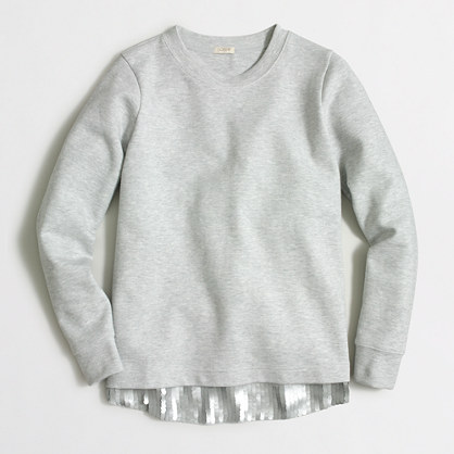 Sequin-trim sweatshirt