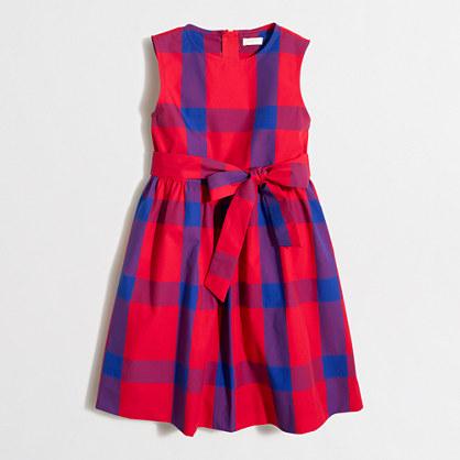 Girls' tartan plaid dress