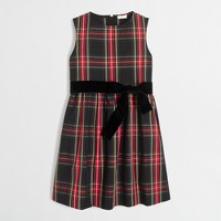 Girls' tartan plaid dress