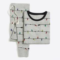 Printed ribbed knit sleep set