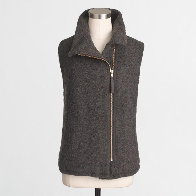 Sherpa-lined vest