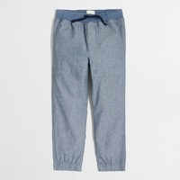 Boys' chambray stadium pant