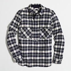 Buffalo check shirt-jacket