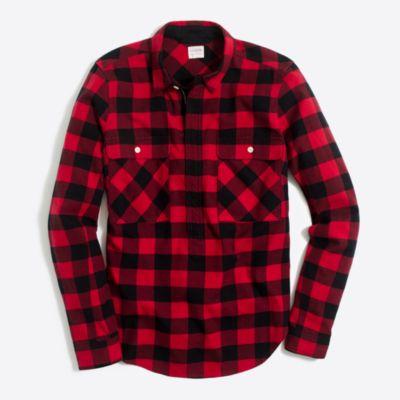 Buffalo check shirt-jacket : FactoryWomen Button-Ups | Factory