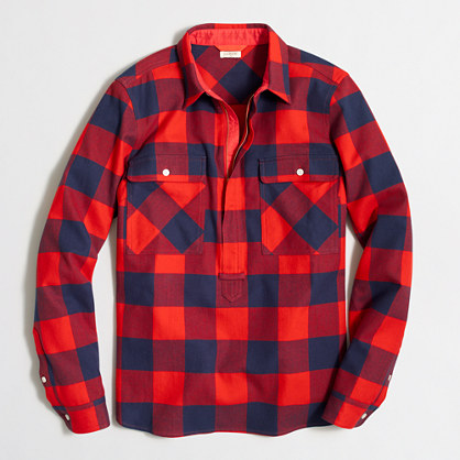 Buffalo check shirt-jacket : Button-Ups | J.Crew Factory