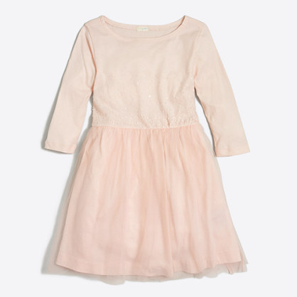 Girls' sequin tulle dress