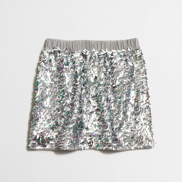 Girls' sequin skirt