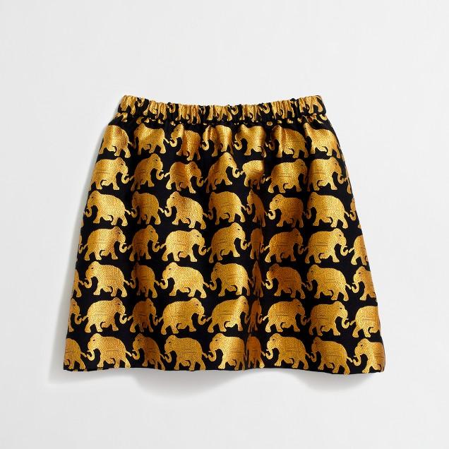 Girls' golden elephant skirt