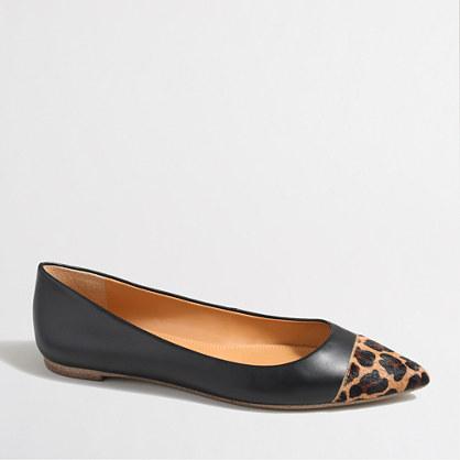 Amelia leopard cap toe flats