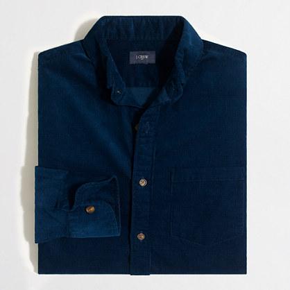 Slim corduroy shirt