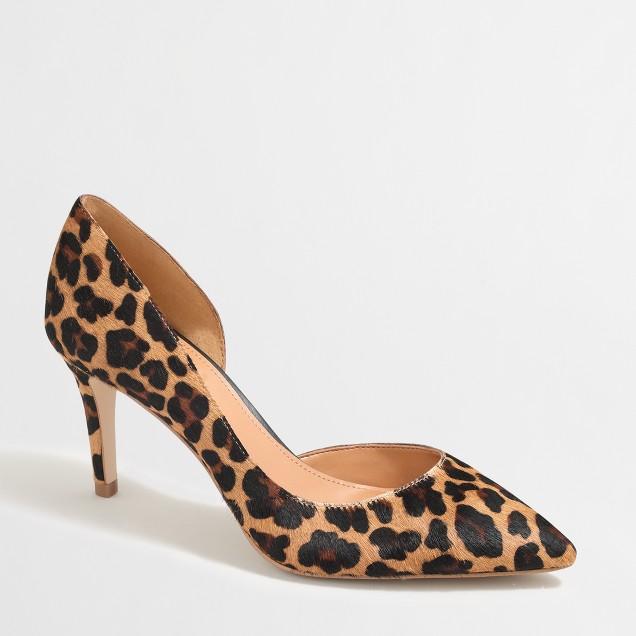 Calf hair d'Orsay pumps