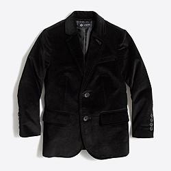 Boys' Thompson stretch velvet blazer